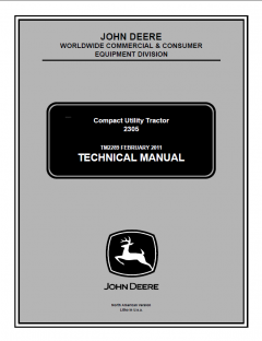 repair manuals John Deere 2305 Compact Utility Tractor Technical Manual TM2289 PDF