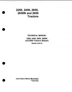 repair manuals John Deere 2250 2450 2650 2650N 2850 Tractors (Repair) Technical Manual TM4440 PDF
