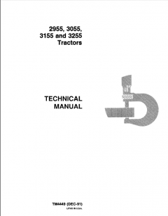 repair manuals John Deere 2955 3055 3155 3255 Tractors Technical Manual TM4449 PDF