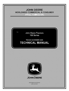 repair manuals John Deere 100 Series Tractors Technical Manual TM2328 PDF
