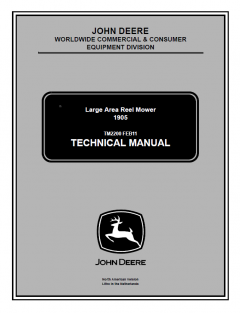repair manuals John Deere 1905 Area Reel Mower Technical Manual TM2200 PDF