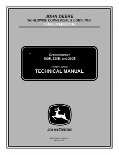 repair manuals John Deere 180B 220B 260B Greensmower Technical Manual TM2004 PDF