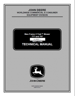 repair manuals John Deere 777 797 Max-Frame Z-Trak Mower Technical Manual TM2077 PDF