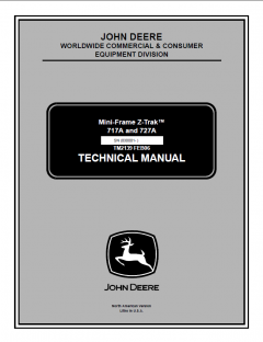 repair manuals John Deere 717A 727A Mini-Frame Z-Trak Technical Manual TM2139 PDF
