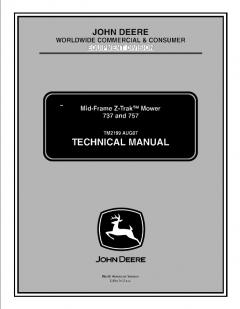 repair manuals John Deere 737 757 Mid-Frame Z-Trak Mower Technical Manual TM2199 PDF