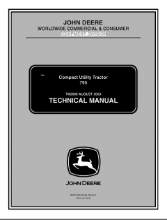 repair manuals John Deere 790 Compact Utility Tractor Technical Manual TM2088 PDF