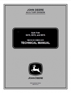 repair manuals John Deere 647A 657A 667A Quik-Trak Technical Manual TM2310 PDF