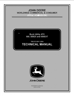 repair manuals John Deere 500 500EX 500EXT Buck Utility ATV Technical Manual TM2153 PDF