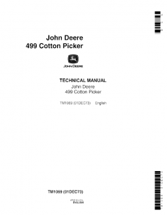 repair manuals John Deere 499 Cotton Picker Technical Manual TM1069 PDF