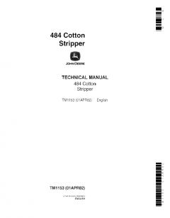 repair manuals John Deere 484 Stripper Technical Manual TM1153 PDF