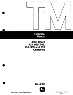 repair manuals John Deere 925 935 945 955 965 975 Combines Technical Manual TM4307 PDF