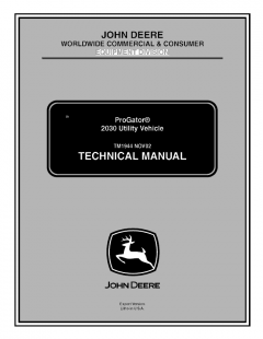 repair manuals John Deere ProGator 2030 Utility Vehicle Technical Manual TM1944 PDF