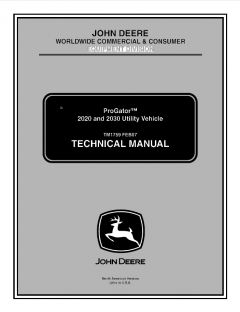 repair manuals John Deere ProGator 2020 2030 Utility Vehicle Technical Manual TM1759 PDF