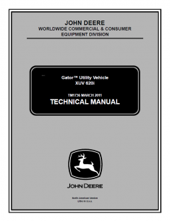repair manuals John Deere XUV 620i Gator Utility Vehicle Technical Manual TM1736 PDF