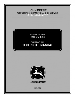 repair manuals John Deere X495 X595 Garden Tractors Techical Manual TM2158 PDF