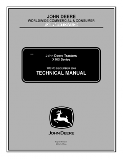 repair manuals John Deere X100 Series Tractors Technical Manual TM2373 PDF