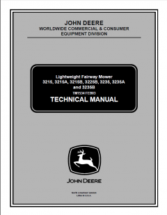 repair manuals John Deere 3215 3215A 3215B 3225B 3235 3235A 3235B Lightweight Fairway Mower TM1534 Technical Manual