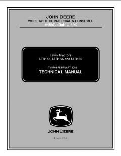 repair manuals John Deere LTR155 LTR166 LTR180 Lawn Tractors Technical Manual TM1768 PDF