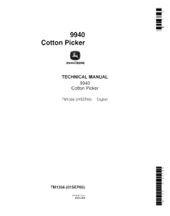 repair manuals John Deere Cotton Picker 9940 Technical Manual TM1356 PDF