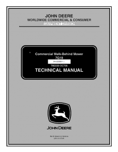 repair manuals John Deere Commercial Walk-Behind Mower 7G18 Technical Manual TM2220 PDF