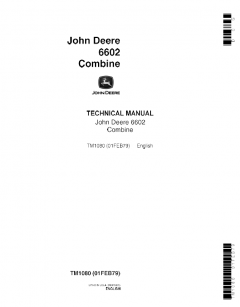 repair manuals John Deere Combine 6602 Technical Manual TM1080 PDF
