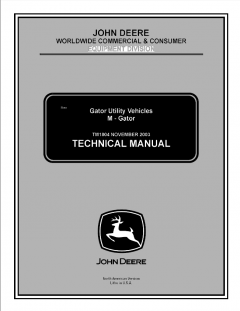 repair manuals John Deere Gator Utility Vehicles M-Gator Technical Manual TM1804 PDF