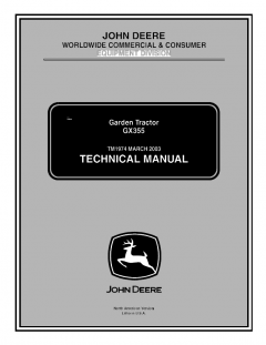 repair manuals John Deere GX355 Garden Tractor Technical Manual TM1974 PDF