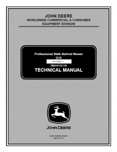 repair manuals John Deere G15 Professional Walk-Behind Mower Technical Manual TM2242 PDF