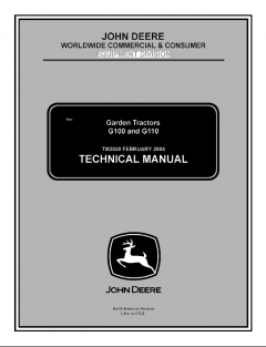 repair manuals John Deere G100 G110 Garden Tractors Technical Manual TM2020 PDF