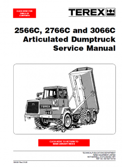 repair manuals Terex 2566C, 2766C, 3066C Articulated Dumptruck Service Manual PDF