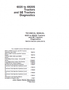 repair manuals John Deere 6020-6920S Tractors & SE Tractors Diagnostics TM4726 PDF