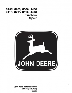 repair manuals John Deere 8100, 8200, 8300, 8400, 8110, 8210, 8310, 8410 Tractor Repair TM1575 PDF