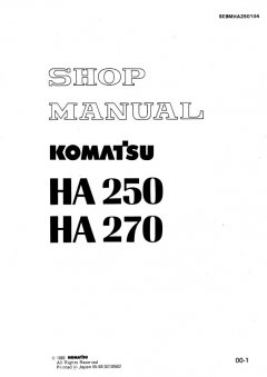 repair manuals Komatsu HA 250 & HA 270 Dump Trucks Shop Manual PDF