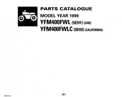 spare parts catalogs Yamaha YFM400FWL/LC 1999 Parts Catalog PDF