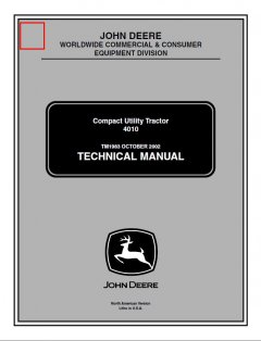 repair manuals John Deere 4010 Compact Utility Tractor TM1983 Technical Manual PDF