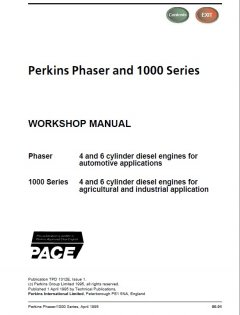 repair manuals Perkins Phaser, 1000 Series Diesel Engines Workshop Manual PDF