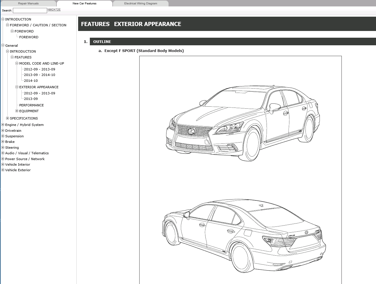 Lexus Ls600h Repair Manual 092012 082015 Electrical Wiring Diagram Manuals 2