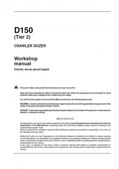 repair manuals Fiat Kobelco D150 Tier2 Crawler Dozer Workshop Manual PDF