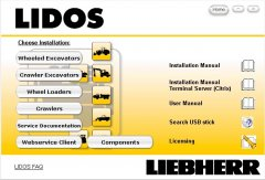spare parts catalog, repair manual Liebherr Lidos Parts And Service Documentation Offline 2017