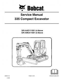 repair manuals Bobcat 335 Compact Excavator Service Manual PDF