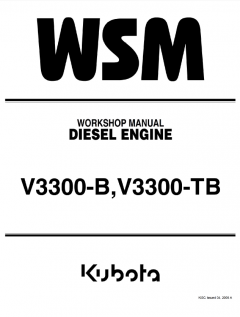 repair manuals Kubota V3300-B, V3300-TB Diesel Engines Workshop Manual PDF