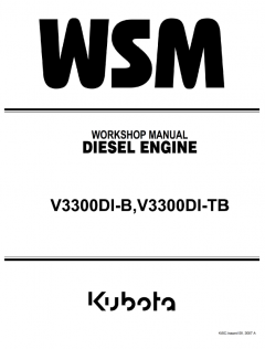 repair manuals Kubota V3300DI-B, V3300DI-TB Diesel Engines Workshop Manual PDF