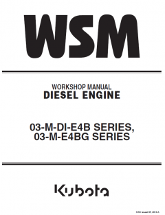repair manuals Kubota 03-M-DI-E4B, 03-M-E4BG Series Diesel Engines Workshop Manual PDF