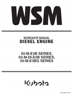 repair manuals Kubota 03-M-E3B, 03-M-DI-E3B, 03-M-E3BG Series Diesel Engines Workshop Manual PDF