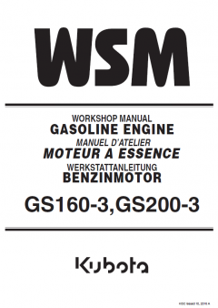 repair manuals Kubota GS160-3, GS200-3 Diesel Engines Workshop Manual PDF