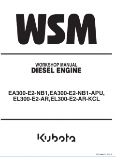 repair manuals Kubota EA300-EL300 Series Diesel Engines Workshop Manual PDF