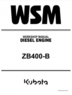 repair manuals Kubota ZB400-B Diesel Engine Workshop Manual PDF