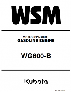 repair manuals Kubota WG600-B Gasoline Engine Workshop Manual PDF