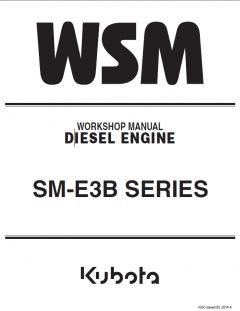 repair manuals Kubota SM-E3B Series Diesel Engines Workshop Manual PDF