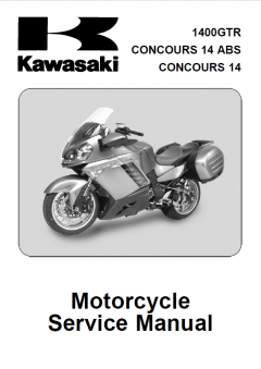 repair manuals Kawasaki 1400GTR, Concours 14 ABS, Concours 14 Motorcycles Service Manual PDF